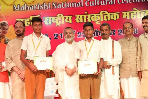 The memorable three days of Maharishi National Cultural Celebration commenced on 20th October, was concluded on 22nd October, 2019 with the remaining competitions, like Vocal Classical Junior and Senior and Orchestra followed by Valedictory function presided by Hon'ble Chairman Sir, in the august presence of all the Directors of Maharishi Vidya Mandir Schools Group, Principals of various Maharishi Vidya Mandir Schools, teachers, students, staff members and parents.
